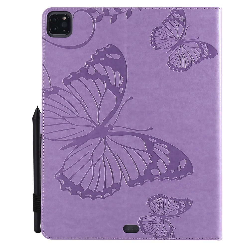 Folding For iPad Embossed 12.9 Case 2020 2018 Folio Tablet Pro Cover Fundas Butterfly