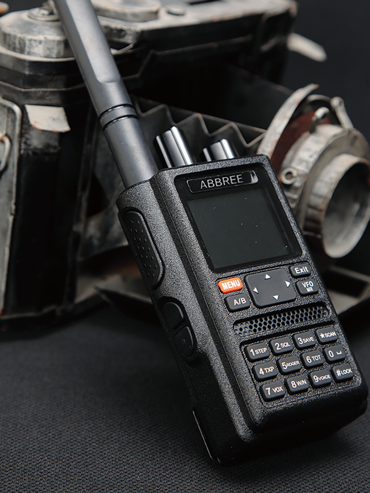 ABBREE Programming-Cable Walkie-Talkie Ham-Radio 6-Bands VOX LCD AR-F8 DTMF GPS Multi-Functional
