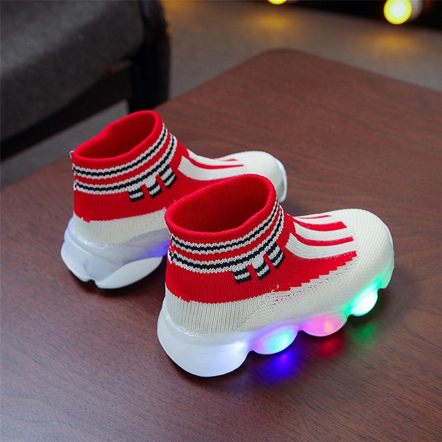 sport shoes kids led luminous running shoes light kids sneakers boy girls football sneakers lights krampon futbol orjinal #40J30 (10)