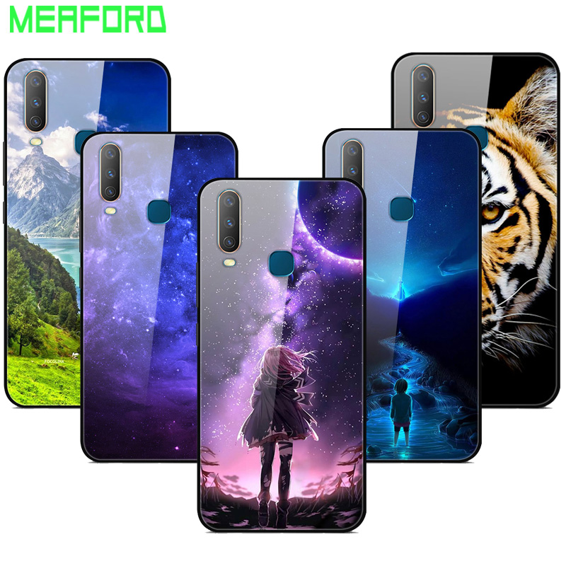 For <font><b>VIVO</b></font> Y17 2019 <font><b>Case</b></font> Tempered Glass Planet Space Cover Glass Back <font><b>Case</b></font> for <font><b>Vivo</b></font> Y17 Y 17 VivoY17 1902 Capa For <font><b>Vivo</b></font> <font><b>Y3</b></font> Y12 Y15 image