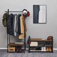 Multi-layer Shoe Rack Organizer Shelf Shoes Cabinet Industrial Style Shoe Bench Storage Shelf Bedroom Living Room Organizer