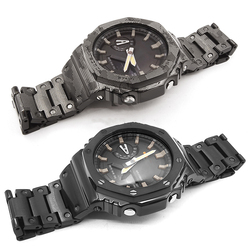 Camouflage Stainless Steel Watchband and Bezel For GA2100 GA-2100-1A1 GA-2100-4A Metal Strap Steel Belt With Tools