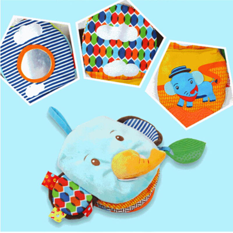 Newborn Baby Colorful Cloth Books Toys Soft  Animals Book Hand Puppet Multi-Function Intelligence Development Learning Toy