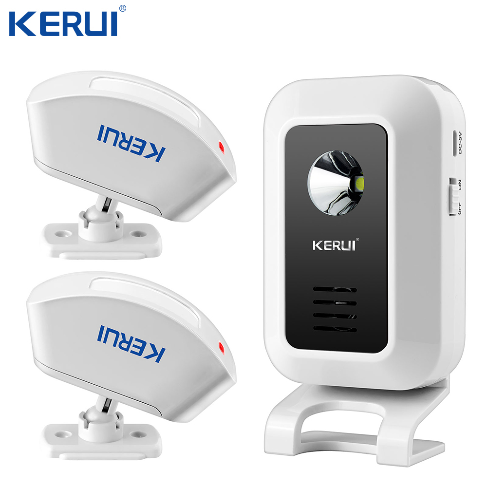 Kerui M7 WIRELESS MOTION SENSOR CURTAIN PIR DETECTOR DOOR GATE ENTRY BELL CHIME ALERT ALARM DOORBELL FOR GSM HOME ALARM SYSTEM