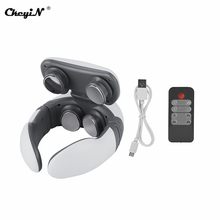 Neck-Massager-Tool Relaxed Pain-Relief Remote-Neck-Shoulder 4-Heads EMS Ckeyin for 4-Gears