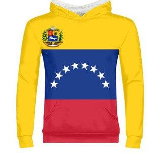 VENEZUELA man diy gratis custom naam nummer foto ven rits sweatshirt natie vlag ve venezolaanse spaans land college kleding