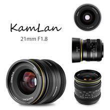 Kamlan 21mm F1.8 Draagbare Waterdichte Mirrorless Camera Handleiding Fix Focus Prime Lens voor Canon EOS M voor Sony E voor fuji FX/M4/3