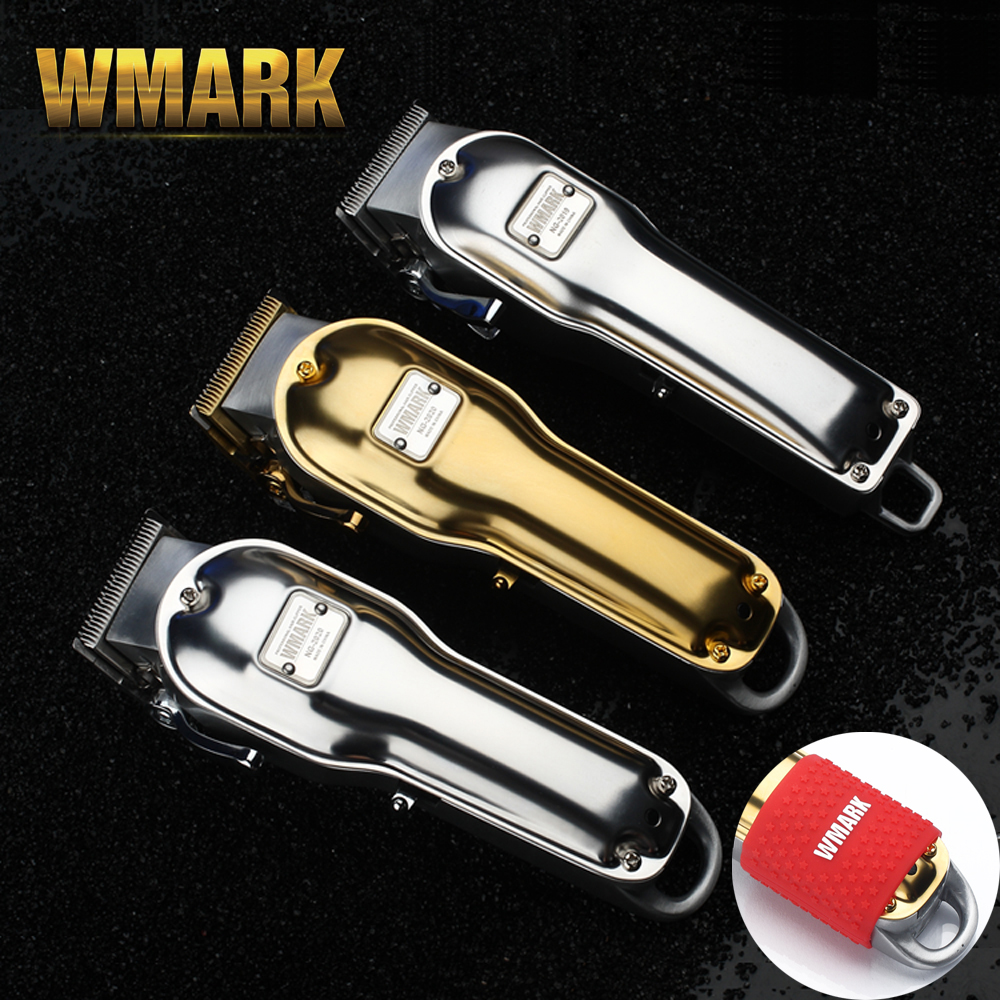 WMARK All-metal Cordless Hair Clipper NG-2019 NG-2020 Electric Hair Trimmer 2500mAh Cordless Hair Cutter Golden Color