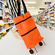 Manufacturers Direct Selling Portable Folding Shopping Bag Oxford Cloth Hand Korah Shopping Cart Shopping Grocery Shopping Lugga