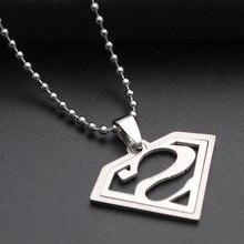 1pcs stainless steel Batman Superman sign Justice Necklace Superhero Pendant Captain America League Movie necklace Jewelry justice league of america volume 1 world s most dangerous tp