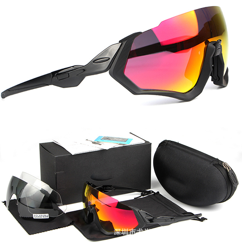 Wholesale 9401 Flight Jacket Glasses For Riding Bicycle Outdoor Supplies New Style Polarized Glasses Set