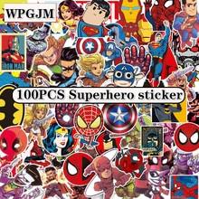 1-110Pcs Marvel Spiderman Cartoon Sticker Waterproof for Laptop Moto Skateboard Luggage Guitar Furnitur Decal Toy Stickers