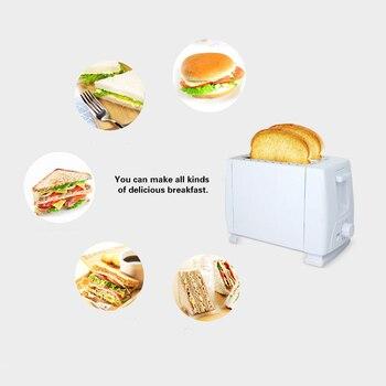 Yeni Ev Aletleri Elektrikli Ekmek Kızartma Makinesi Ev Paslanmaz çelik 2 Dilim Tost Ekmek Makinesi (abd Plug)