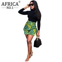 2021 африканская мода юбка для женщин накладной слой 2 однотонные