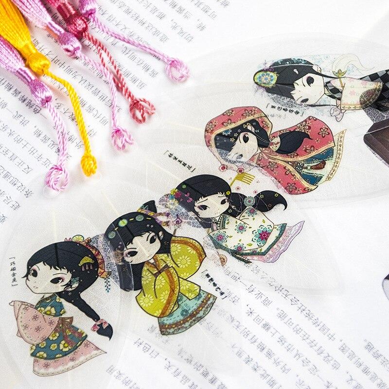 Jinling Twelve Hairpin Bookmark Lin Daiyu Xue Baochai Red Mansions Classic Masterwork Figure Traditional Culture Leaf Vein Bookm