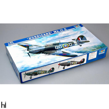 Trumpeter 02415 1/24 British Hurricane Mk.II C Fighter Plane Aircraft Military Assembly Plastic Model Building Kit image