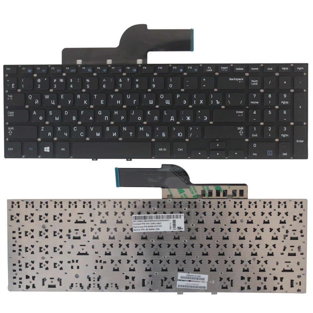 NEW Russian Keyboard For Samsung 355E5C NP355E5C NP350V5C 355V5C NP355V5C 550P5C NP350E5A  Black RU Laptop Keyboard