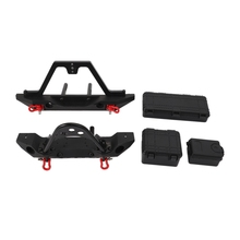 Metal Front and Rear Bumper Belt Decoration Box for 1:10 Reinforced Concrete Tracked Vehicle Traxxas Trx-4 Axial Scx10 and Scx10