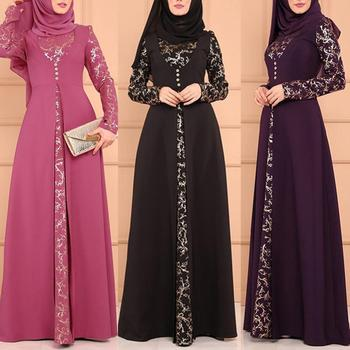 Party Elegant Muslim Women Long Sleeve dress Dubai Kaftan Maxi Dress without Hijab For Ladies Elegant enchantment Dresses Hot pearl beading bell sleeve hijab long dress