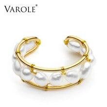 VAROLE טבעי פניני טבעת בעבודת יד זהב צבע טבעות לנשים אביזרי אצבע תכשיטים מתנות