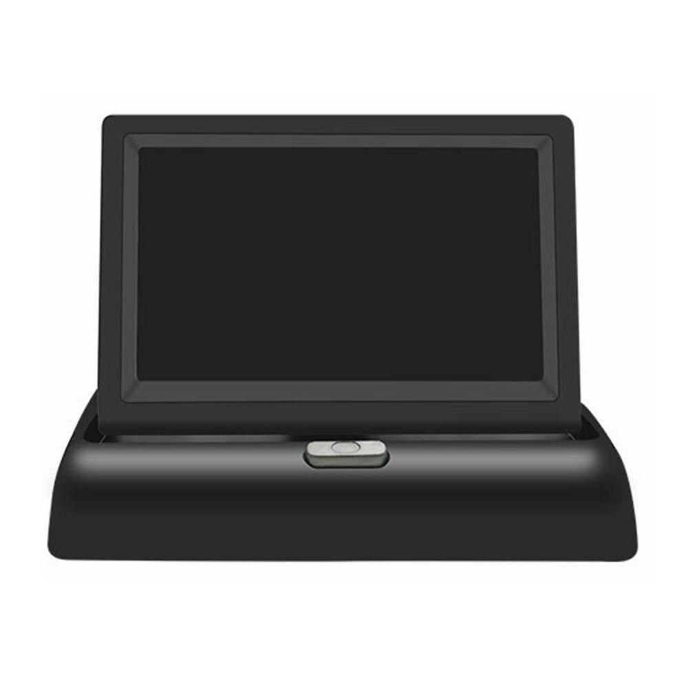 Ekran samochodu 4.3 cala widok z tyłu samochodu uniwersalny monitor do parkowania lusterek 12v LCD wyświetlacz hd monitory wsparcie kamera cofania