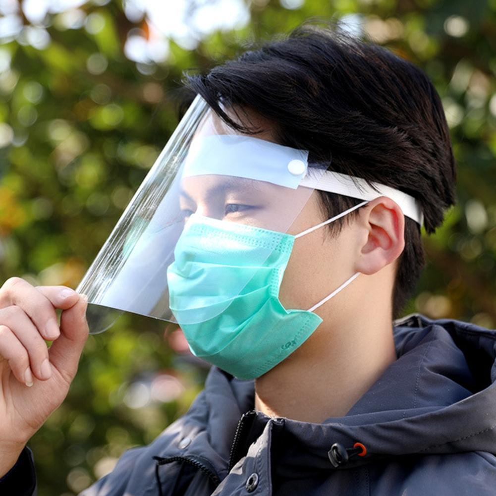 Transparent Anti Splash Dust-proof Protect Full Face Covering Mask Visor Shield Increased Anti-apatter Mask, Can Be Recycled