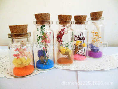 20ml 25 มม.* 65 มม.จุก Jar แก้วขวดมินิขวดขวดจุกขวดขนาดเล็กตกแต่งขวด