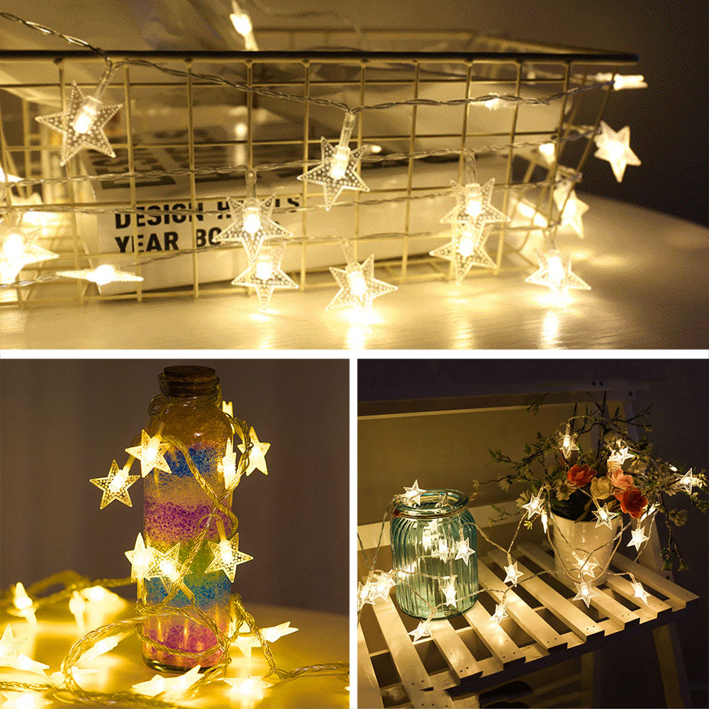 LED Stars Shape Light String Fairy Lights Christmas Decoration 300CM USB