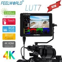 7 дюймовый 2200 дюймовый сенсорный экран FEELWORLD LUT7 nits 3D LUT полевой монитор 4K HDMI Full HD 1920x1200 IPS монитор для DSLR камер видео