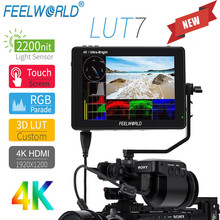 Feel world LUT7 7 بوصة 2200nits ثلاثية الأبعاد لوت شاشة تعمل باللمس جهاز المراقبة الميدانية 4K HDMI كامل HD 1920x1200 IPS مراقب للفيديو كاميرات DSLR