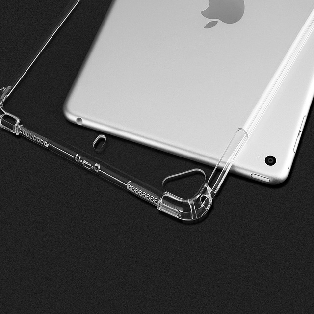 Essidi funda clara suave para ipad mini 1 2 3 4 5 transparente Anti Shock funda para Tablet de TPU para ipad 2 3 4 cubierta de aire para 1, 2, 3, 2018, 9,7
