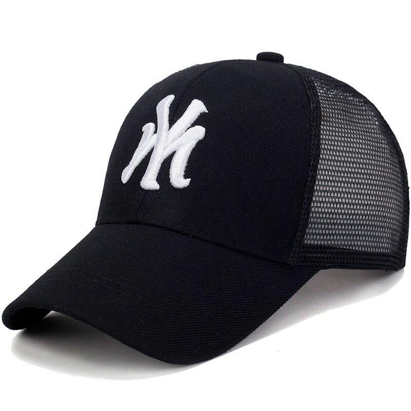 Unisex Baseball MY Embroidery Caps Letter Mesh Breathable Cap Adjustable Hat Women Men Cotton Casual Bone Hats Gorras Casquette