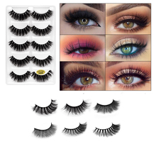 5 Pairs Styles 3D Faux Mink Hair Soft False Eyelashes Fluffy Wispy Thick Lashes Handmade Eye Makeup Extension Tools
