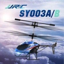37g JJRC SY003A/B 3.5CH tek anahtar kalkış kızılötesi uzaktan kumanda helikopter uçak RTF çocuk açık model oyuncaklar hediyeler