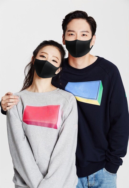 Anti Flu Mouth Mask 3D Fashion Black Color breathing mask Reusable Washable Dust Proof Face Mask Breathable Super Soft 1