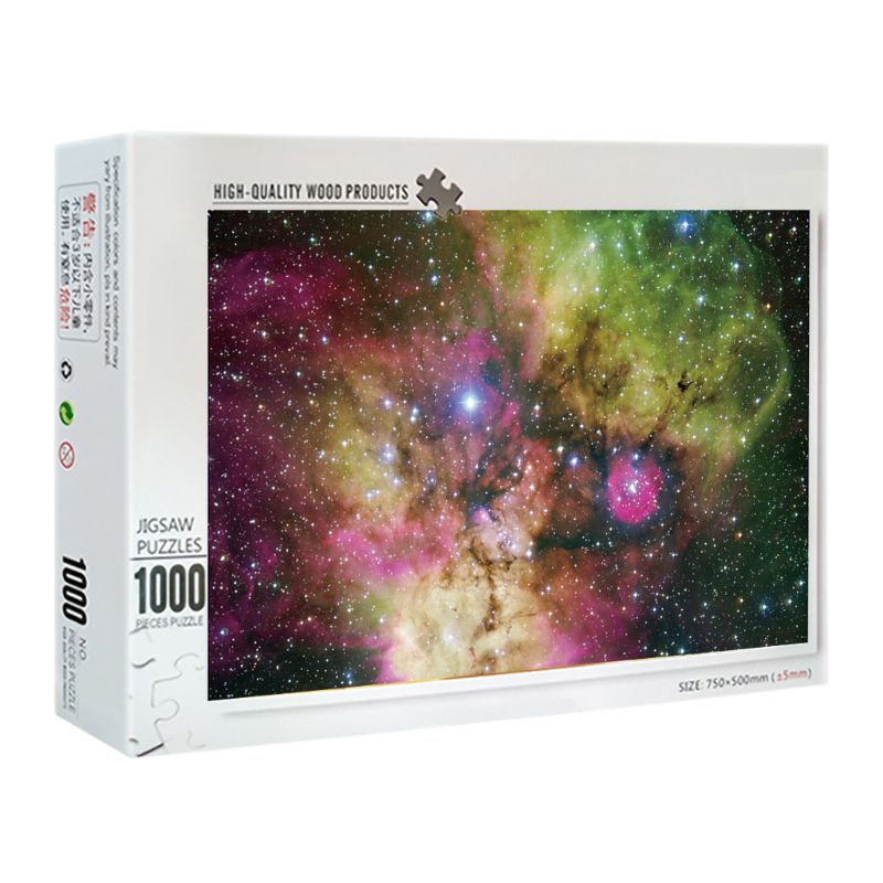 New 1000 Pieces  The Galaxy Puzzles Wooden Jigsaw Puzzles Floor Puzzle Intellectual Game Learning Education Decompression To