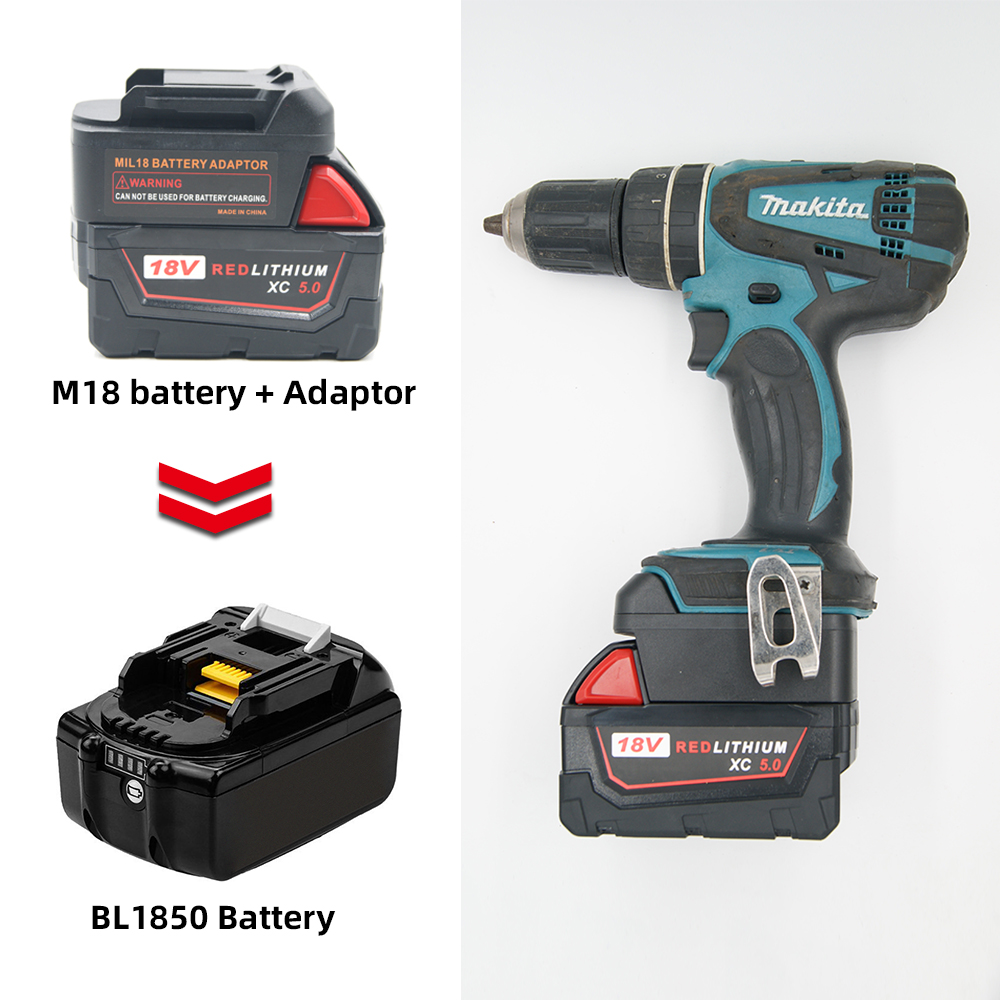 Battery Adapter For Milwaukee M18 18V Li-Ion Battery Convert To Makita 18V/20V BL Series Lithium Power Tools Batteries Adapter