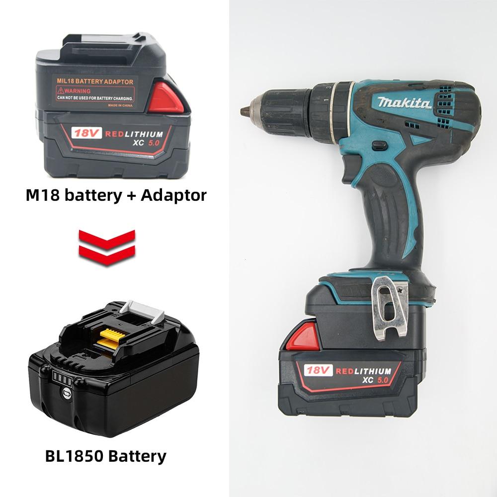 Battery Adapter For Milwaukee M18 18V Li-Ion Battery Convert To Makita 18V/20V BL Series Lithium Power Tools Batteries Adapter