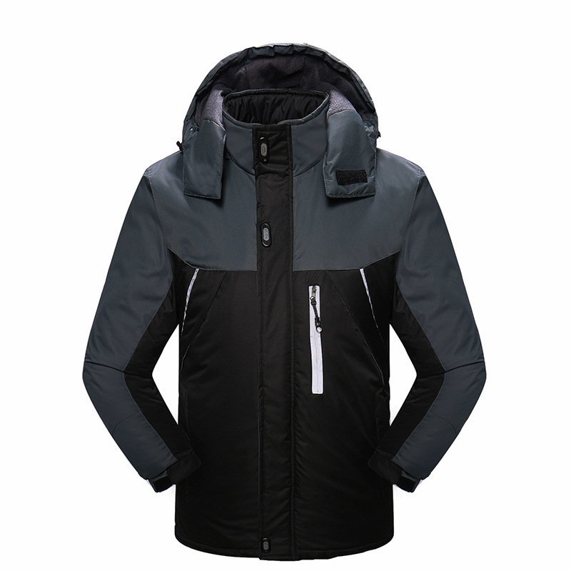2019 hiver veste de Ski homme à capuche polaire chaud hommes Snowboard manteaux Sport Ski vêtements d'extérieur hommes vêtements coupe-vent en coton - 2