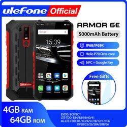 Ulefone Armor 6E водонепроницаемый IP68 NFC прочный мобильный телефон 2,4G/5G WiFi Helio P70 Android 9,0 4 Гб + 64 Гб беспроводной зарядный смартфон