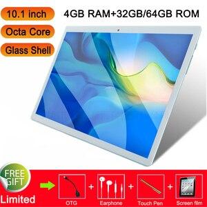 Глобальный дешевый 4G Вызов 10,1 дюймовый ноутбук планшет 10,1 13MP планшет на андроиде GPS игровые ПК планшеты стеклянная крышка Восьмиядерный пла...