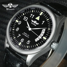 WINNER Official Casual Mens Watches Top Brand Luxury Automatic Mechanical