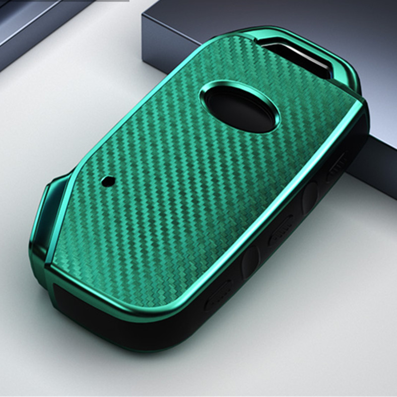 Carbon fiber car key fob skin set cover case shell holder for kia 2018 2019 sportage R Stinger remote sorento cerato protect key