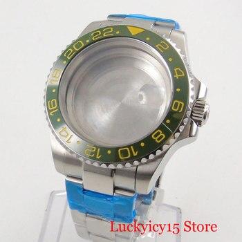 Stainless Steel 40mm Watch Case + Watch Bracelet with Bezel Fit ETA 2836 MIYOTA Movement