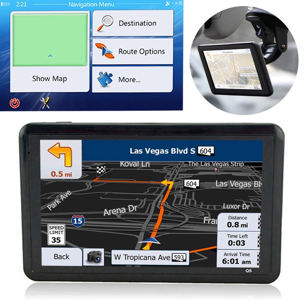 5.0 Inch Touch Screen Car Dvr Gps Navigator USB Charging Car Charger Convenient FM Transmitter Navigator 8GB Memory