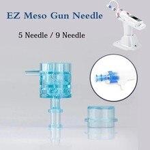 1 Uds aguja 5/9 cartucho EZ aguja del inyector EZ inyector de agua mesoterapia presión negativa microcristal de inyección de herramienta
