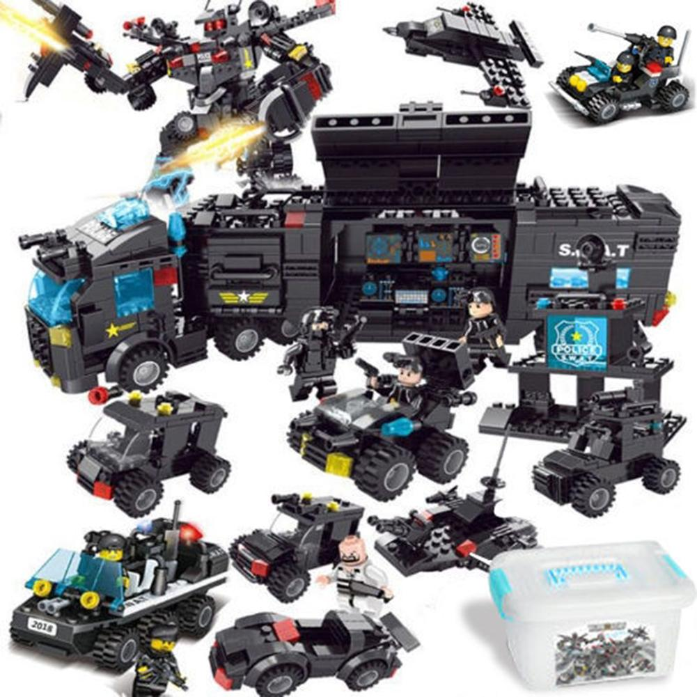 New Children's Assembled Puzzle City Special Police Military Aircraft Carrier Compatible With Lego Building Blocks Toys
