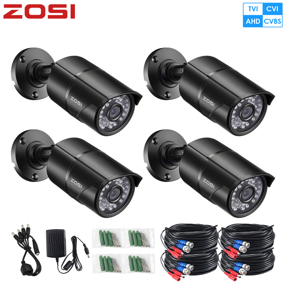 ZOSI Camera-Module Nightvision Surveillance-Camera Bullet Ir-Cut 960H CCTV Waterproof title=