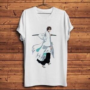BLEACH Gotei 13 Aizen Sousuke funny anime t shirt men summer white casual tshirt unisex short sleeve japan manga streetwear tee