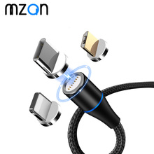 Magnetic Cable Fast 3A Micro USB Type C For iPhone XS Samsung Charger Super Magnet Phone Charging Data Cord